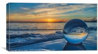Sunset and Bubbles, Canvas Print
