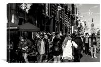 Amsterdam hustle and bustle , Canvas Print