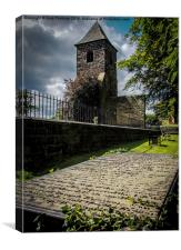 The tower and the grave, Canvas Print