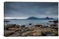 The Black Cuillins across Loch Scavaig, from Elgol, Canvas Print