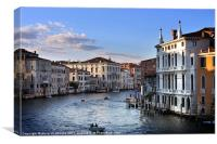 Venice from Ponte dell'Accademia, Canvas Print
