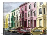 Notting Hill Colours, Canvas Print