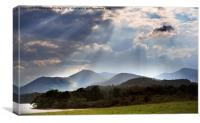 Evening Sun Over Derwentwater, Canvas Print