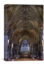 Inside the gothic, Canvas Print