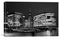 The Shard and the scoop, Canvas Print