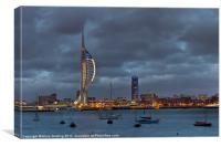 Spinnaker Tower in White, Canvas Print