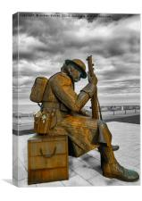Tommy at Seaham, Canvas Print