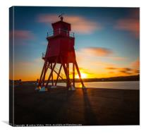 Sunset At The Groyne, Canvas Print
