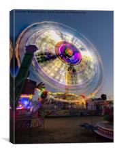 Spin at Newcastle Hoppings, Canvas Print