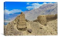 Yamchun Fort The Wakhan Valley, Canvas Print