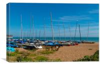 Sail Boats at Bexhill on Sea, Canvas Print