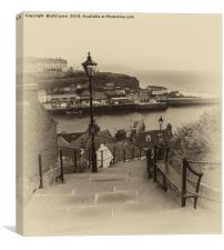 99 Steps at Whitby, Canvas Print