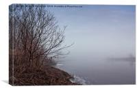 Heavy Mist Over The River Water, Canvas Print