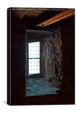 Window Under The Wooden Planks, Canvas Print