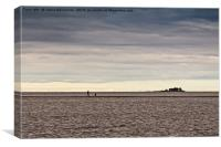 Walking On The Sand Bank, Canvas Print