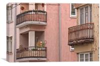 Balconies With Flowers, Canvas Print