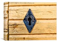 Iron Keyhole In A Yellow Wall, Canvas Print