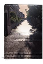 Narrow Alley In Bright Sunlight, Canvas Print