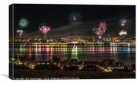 Dundee Fireworks, Canvas Print