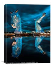 The Kelpies - Falkirk Scotland, Canvas Print