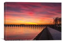 Dundee Tay Bridge Sunset, Canvas Print