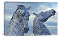 The Kelpies 001, Canvas Print