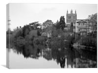 hereford cityscape, Canvas Print