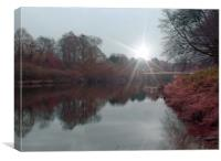 early morning on the wye, Canvas Print