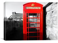 phonebox, Canvas Print