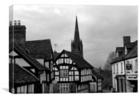 weobley herefordshire, Canvas Print