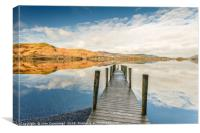 Ashness Jetty Reflections, Canvas Print