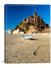 Le Mont Saint-Michel at Low tide., Canvas Print