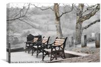 Winter Benches, Canvas Print