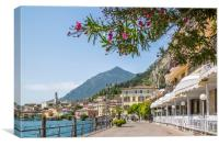 LAKE GARDA Limone sul Garda Lakeside, Canvas Print