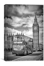 LONDON Houses of Parliament and traffic, Canvas Print