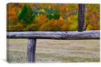 Autumn colors in a frame, Canvas Print