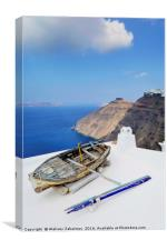 Boat on a rooftop, Canvas Print