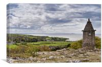 The Pepperpot,Silverdale UK, Canvas Print