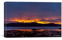 Sunset over the Sound of Arisaig, Canvas Print