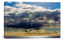 The Sky over The Ailsa Craig, The Firth of Clyde, Canvas Print