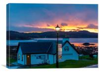 Sunset over Rhu, Canvas Print