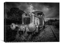 Old Train, Canvas Print
