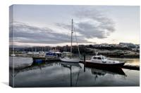 A Winters Morning on The Cleddau , Canvas Print