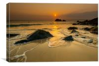 Gold tide St Ives, Canvas Print