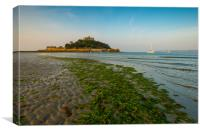 A calm day at St Michael's Mount, Canvas Print