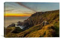 Botallack Sunset, Canvas Print