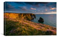 The beauty of Bedruthan Steps, Canvas Print