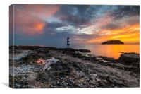 Penmon lighthouse Anglesey Wales, Canvas Print