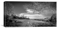 Sharpenhoe Clappers Black and White, Canvas Print