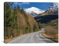 Glen Lochy Road, Canvas Print